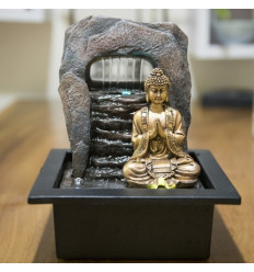 Large indoor fountain Buddha Chakra 40cm to Led lighting