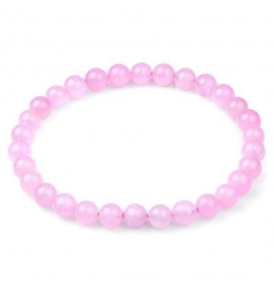 Bracciale Lithotherapie Quarzo rosa - Pace e Amore