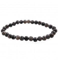 Bracelet Lithotherapie in Labradorite natural - Protection, meditation, calming.