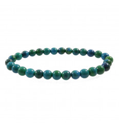 Bracelet Lithotherapie beads 6mm Chrysocolla - Stone in a quiet