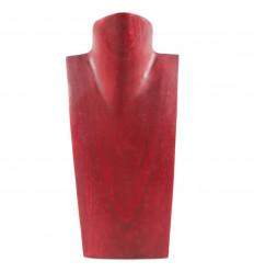 Busto Visualizzare le collane in legno massello rosso H25cm