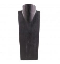 - Busto Visualizzare le collane in legno massello nero H35cm