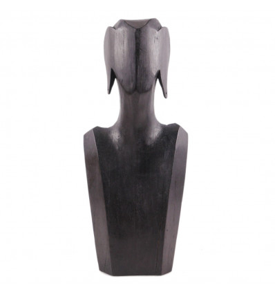 Bust Display necklaces and earrings in solid wood black