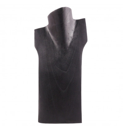 Busto visualizzare le collane in legno massello nero H30cm