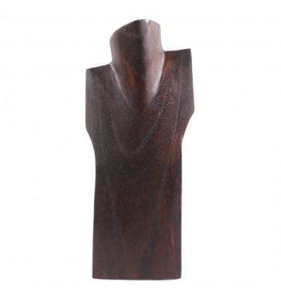 Busto visualizzare le collane in legno massello marrone H30cm