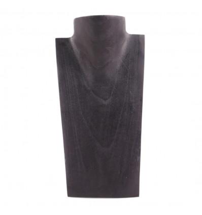 Busto Visualizzare le collane in legno massello nero H25cm