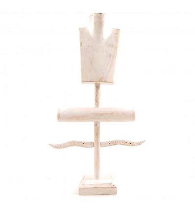 mostra gioielli legno professionale, deco vetrina del gioielliere.