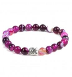 Bracelet pierre en agate rose. Achat pas cher, livraison gratuite.