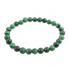Bracelet Lithotherapie pearl 10mm Malachite - Protection, healing, clairvoyance.