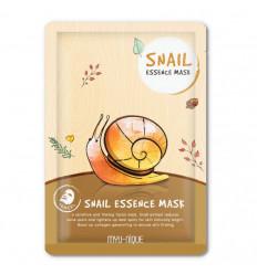 Masque de soin visage à la bave d'escargot contre l'acné et l'eczéma.