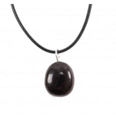 Collier Grenat Rouge Brésil Extra, pendentif pierres roulées + cordon