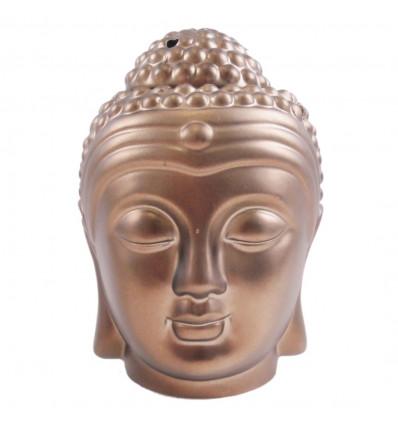 Brule parfum tete de Bouddha Zen en ceramique artisanale bronze