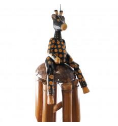 Carillon di vento da giardino / outdoor. Bambù e la statua di Giraffa.