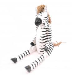 Marionette e burattini articolato di legno della Zebra. Fatti a mano.