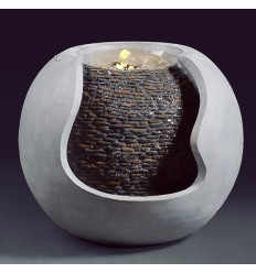 Indoor fountain modern design shape a ball, élairage led.
