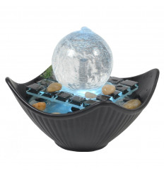Fountain indoor led lights modern design ceramic and glass, not cheap.