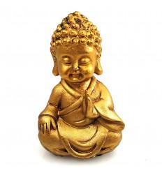 Bébé Bouddha doré patiné. Statuette Bouddha zen pas cher, achat.