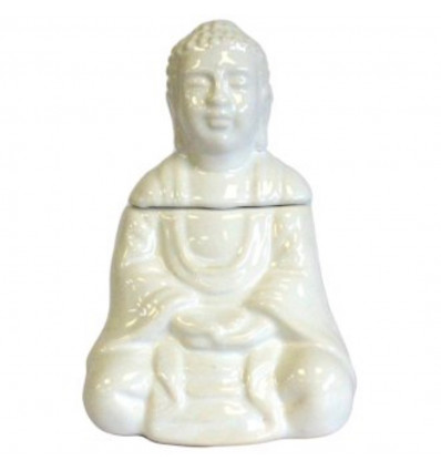 Brule-parfum diffuser oil form Buddha ceramic old white.
