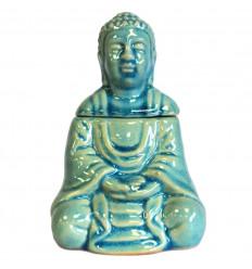 Brûle parfum / Diffuseur forme Bouddha en céramique noire
