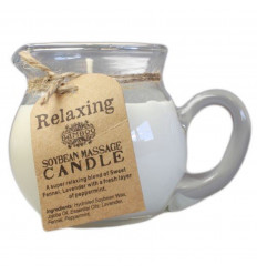 "Massage candle ""Relaxing"". Jojoba oil, lavender, fennel and peppermint - 220 gr"