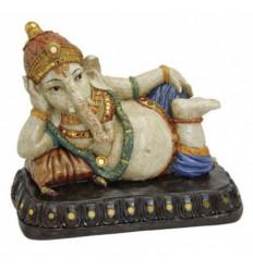 Statua di Ganesh 12 cm laccato nero lucido.