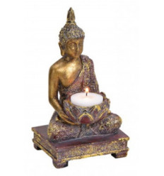 Supporto di candela di Buddha meditazione 18cm