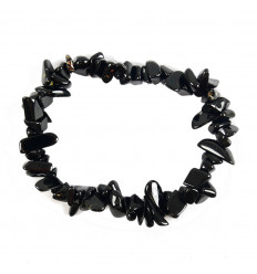 Bracelet baroque en Obsidienne Noire - Clairvoyance et Protection