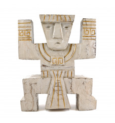 Totem INCA Koh Lanta - sculpture artisanale en bois