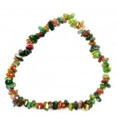 Bracelet baroque Jaspe héliotope sanguain, pierre tonifiante naturelle