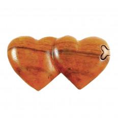 Scatola dei Segreti-doppio cuore in legno.