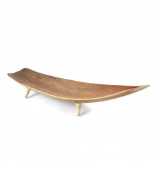 Deco stile di tabella barca in foglie di cocco. Centro Tavola, etnico chic.