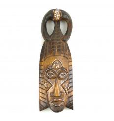 Masque Africain en bois H30cm style tribal.