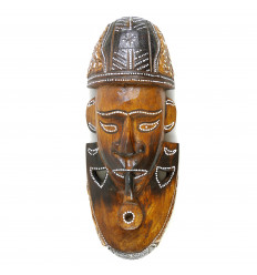 African mask in wood 30cm tribal style.