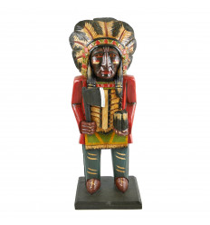 Totem pole indian chief of north America. Solid wood H50cm.