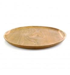 Vassoio in legno di Teak ⌀30 cm.