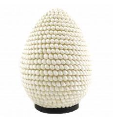 Lampe de chevet en coquillages H30cm | Luminaire exotique