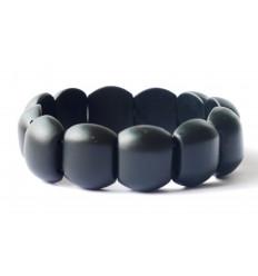 Bracciale Lithotherapie Jade nero - equilibrare le energie, protegge la gravidanza.