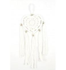 Catcher sogno indiano per auto, decorazioni di conchiglie. Bianco.