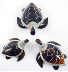 Figurine miniature, amulet Turtle of land bronze.