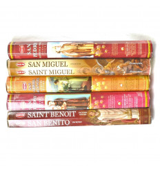 Incense of the Saints-Protectors. Assortment of 5 varieties (100 sticks), brand HEM.