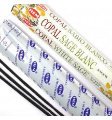 100 Bastoncini di Incenso COPAL, Bianco Salvia Marca HEM