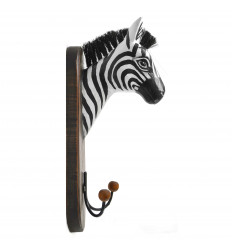 Gancio/Coppa di Parete di Testa della Zebra da Fabbricati in Legno fatti a Mano