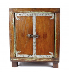 Small Old piece of Furniture 2 Doors Retro/Vintage Wooden 54cm