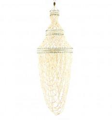 Sospensione genuino conchiglie di ciprea conchiglie bianco 80cm panoramica