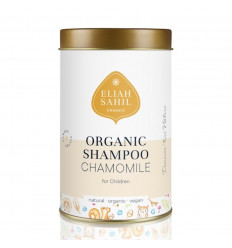 Shampoo in polvere per bambini. Camomilla biologica, vegana, senza allergeni.