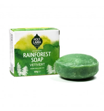 Savon ayurvédique Vegan huile de coco vétiver anti-stress et frais.