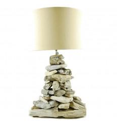 Soggiorno lampada in legno Sbiancato Arisanat in Serie Limitata