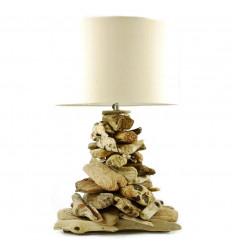 Soggiorno lampada a driftwood H90cm. Creazione di artigianato.