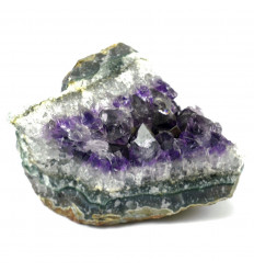 Druse of Amethyst on Agate rare piece of Collection 298g origin USA