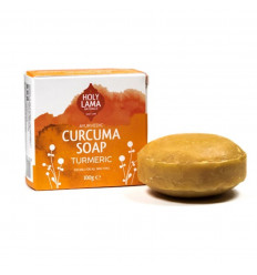 Soap ayurvedic Vegan turmeric coconut oil Holy Lama natural.